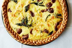 Caramelized Garlic, Spinach, and Cheddar Tart. shp cheddar and also making according to directions! Garlic was yum Quiche Recipes, Tart Recipes, Brunch Recipes, Cooking Recipes, Cooking Ideas, Dinner Recipes, Spring Recipes, Easter Recipes, Egg Recipes