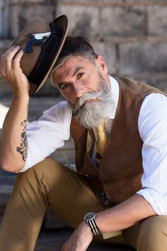 60-Year-Old Man Becomes A Fashion Model After Growing A Beard (10+ Pics) | Bored Panda