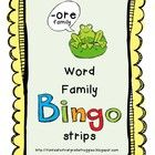 Sometimes you need a quick game of bingo to reinforce a skill. These are bingo strips words per strip). Each set reinforces a word family or sound. The game can easily be stored in a regular envelope and put at a small group station. Word Study, Word Work, Speech And Language, Language Arts, Teaching Tools, Teaching Ideas, Teaching Materials, Teaching Resources, Word Bingo