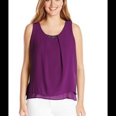 New plum purple blouse New plum purple blouse very flattering available in several colors ❗️❗️❗️ NY Collection Tops Blouses
