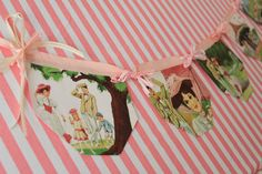 Mary Poppins bunting with her english roses bedding