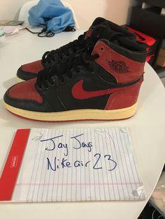 """wholesale dealer a3154 bdd44 Details about Nike Air Jordan 1 Retro High OG Bred """"Banned"""" 2016 Size 7"""