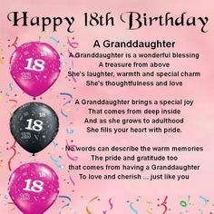 Personalised Coaster - Granddaughter Poem - 18th Birthday + FREE GIFT BOX: