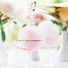 The dreamiest cotton candy cocktail