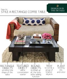 How To Style a Rectangular Coffee Table   www.theanatomyofdesign.com