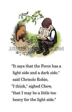 this too cute Winnie the Pooh and Star Wars crossover
