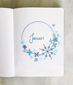 "314 Me gusta, 4 comentarios - Amelie & Matilda (@createmore.se) en Instagram: ""Amelies January spread ❄️ The only snowflakes i have seen this winter is in my journal . . .…"""
