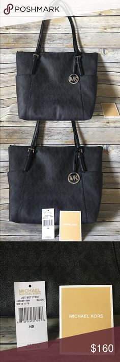 💥Authentic MK Bag💄💋 📍📍NEW-great condition!!  💌Large black MK tote with silver zipper and MK. 💥💥 Don't miss out on this deal because it won't last long!!! MICHAEL Michael Kors Bags Shoulder Bags