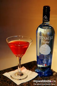 Strawberry Shortcake Martini featuring Pinnacle Whipped Vodka. Website has tons of ideas