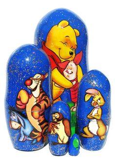 Winnie the Pooh Nesting Dolls Blue