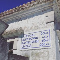 Portugal signs #signage #sign #tiles #azulejos #algarve #artdeco