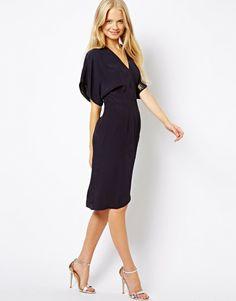 $36 Clean Midi Dress with Kimono Sleeve - Lyst