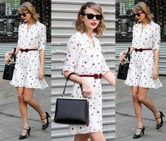 Country Cutie Taylor Swift strikes a sleek pose on her way to the gym