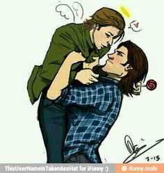 I ship it so much // I don't, but Sam's expression is spot on!