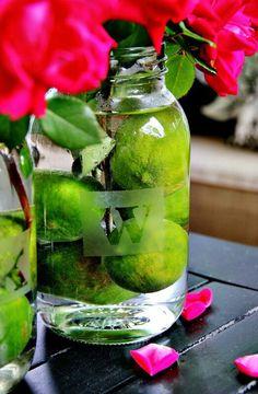 monogrammed mason jars & limes