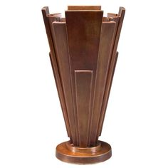 Art Deco Bronze Vase  with <3 from JDzigner www.jdzigner.com