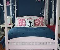 Adorable Sea Theme Bedro, Anchor, Blue, White & Pink