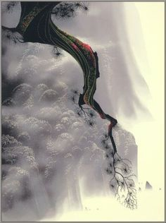 "Eyvind Earle - 'Through the Fog"", Serigraph, Anime Comics, New York City, Eyvind Earle, Phoenix Art Museum, Disney Animated Films, Magic Realism, Soul Art, Paul Gauguin, Art Database"
