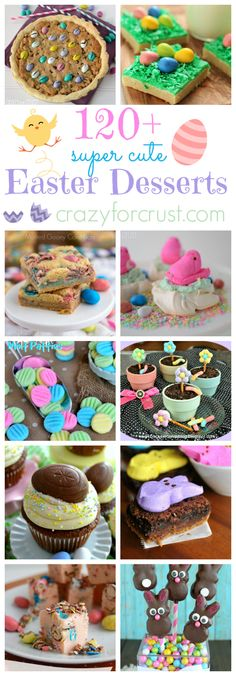 Over 120 Fun Easter Desserts Over 120 super fun and cute Easter Desserts! Cute Easter Desserts, Easter Treats, Easter Recipes, Holiday Desserts, Holiday Baking, Holiday Treats, Easter Food, Easter Meal Ideas, Party Desserts