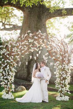 20 Ideias de arcos florais para casamentos