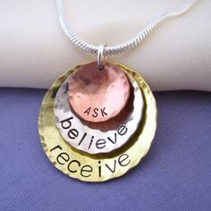 Law of Attraction Necklace  Inspirational Ask by DreamAcreDesigns, $46.00