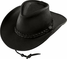 414bc904 American Made black oiled pullup leather cowboy hat from Henschel Hat  Company. Order western hats online from Leather Bound.