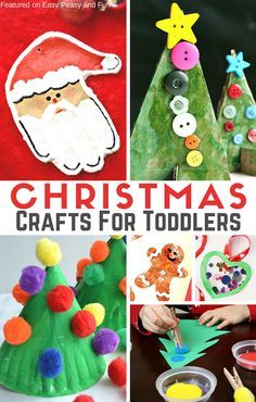 Simple Christmas Crafts for Toddlers - Easy Peasy and Fun