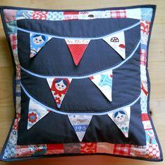 Matryoshka bunting pillow