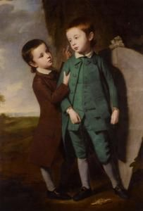 Portrait Of Two Boys With A Kite - George Romney - The Athenaeum