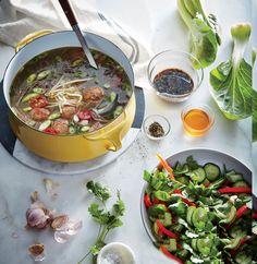 Salty, savory miso becomes the backbone of this soup; try adding it to dressings and marinades too. We add chile-and-honey-spiked pork me...