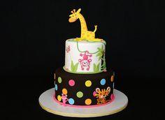 Jungle baby shower cake by cakesbyelisa, via Flickr