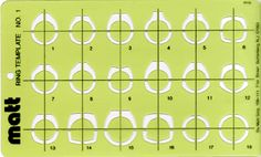 Ring Template No. 1 Jewelry Design Template