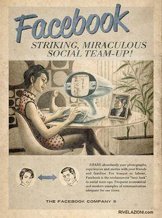 A fake Facebook vintage poster