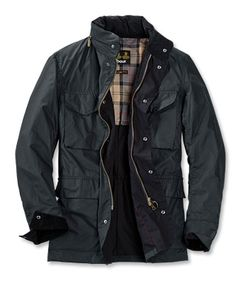 Lightweight Wax Cotton Army Jacket / Barbour® Tailored Sapper Jacket