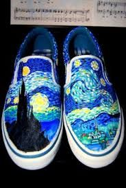 a shoe that has been painted