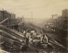 The construction of the Metropolitan District Railway; c.1866