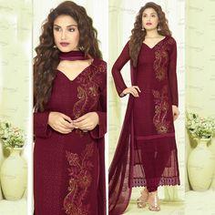 Indian Designer Bollywood Punjabi Straight Salwar Kameez Suit Churidar Dresses