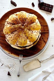 Chocolade-perentaart met mascarponecrème