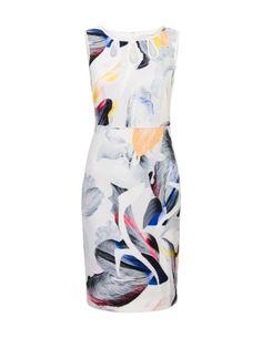 Aansluitende jurk met statement print Offwhite