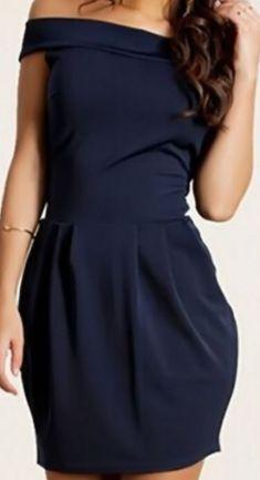 Rochie bleumarin cu umerii goi Peplum Dress, Dresses, Fashion, Vestidos, Moda, Fashion Styles, Peplum Dresses, The Dress, Fasion