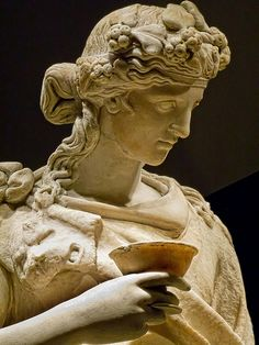 Closeup of Dionysos with a Personification of the Vine Roman 150-200 CE possibly based on 2nd century BCE Greek original La Storta, Italy  British Museum