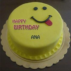 Write Name on Cute Smiling Birthday Cake For Brother