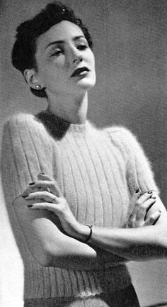 The Vintage Pattern Files: 1930's Knitting - Glesa Angora Slip-over