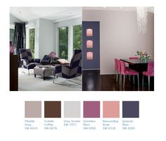 Color Pallet: Flexible Gray, Turkish Coffee, Gray Screen, Grandeur Plum, Resounding Rose, Quixotic Plum