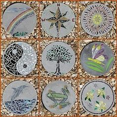 Diy mosaic tile garden stepping stones garden stepping stones diy stepping stones bing imagesi want to make one like the tree workwithnaturefo