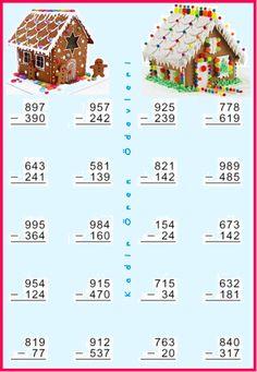 ilkokul ödevleri: 3. sınıf çıkarma işlemi alıştırmaları Math Subtraction, Math Sheets, Kindergarten Math Activities, Math Problems, Math For Kids, Teaching Resources, Worksheets, Homeschool, Classroom