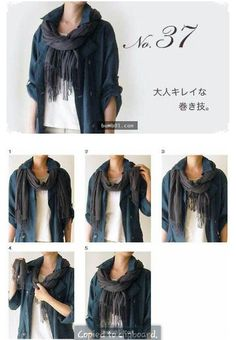 Tie a scarf How To Wear A Blanket Scarf, Ways To Wear A Scarf, How To Wear Scarves, Tie Scarves, Scarfs Tying, Head Scarf Tying, Scarf Knots, Fashion And Beauty Tips, Summer Scarves