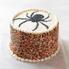 Platine Bakery Halloween Spider Cake from Williams Sonoma. Halloween Desserts, Halloween Food For Party, Halloween Spider, Halloween Cookies, Halloween Treats, Spooky Treats, Halloween Entertaining, Halloween Magic, Halloween Queen