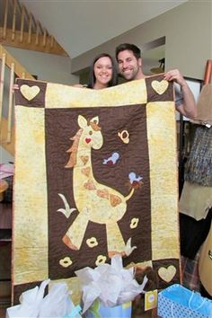Gentle Giraffe Baby Quilt - Quilters Club of America