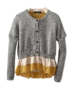 50% OFF Monnalisa Girl's Lace Trimmed Cardigan